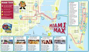 Miami Beach Map Map Of The Miami Sightseeing Tour Miami Tour Company