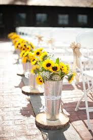 sunflower wedding decorations san diego wedding florist