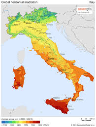 map of italy images solar radiation map of italy italy mappery