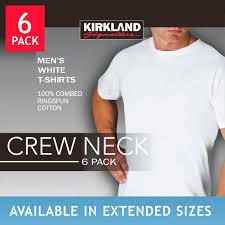 men s kirkland signature men s crew neck tee 6 pack white