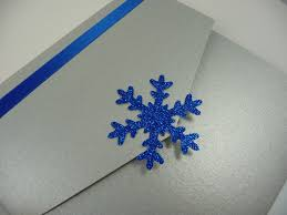 Royal Blue Wedding Invitation Cards Silver And Royal Blue Snowflake Themed Pocketfold Style Wedding