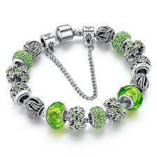 gemstone charm bracelet images Peridot crystal gemstone charm bracelet geniemania jpg