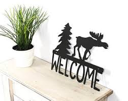 metal wall art bear and moose decor moose decor cabin
