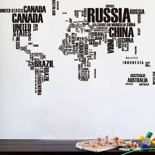 World Map Wall Poster by Aliexpress Com Buy Pvc Large Wallpaper World Map Wall Sticker
