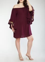 sleeve dress plus size the shoulder bell sleeve dress rainbow