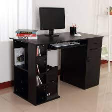 Computer Storage Desk Homcom Computer Desk Pc Workstation Table With Storage Shelves