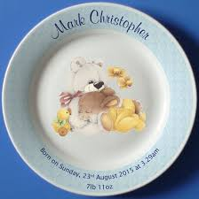 personalized china plates 9 best personalized christening plates images on baby