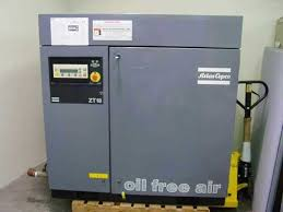 atlas copco zt18 oil free air compressor zt 18 air cooled 35hp
