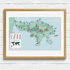 Map Of Bali Poster Map Of Bali