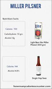 calories in miller light beer how many calories in miller pilsner how many calories counter