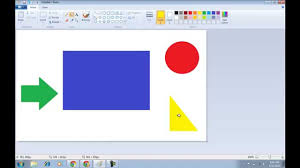 how to fill color in ms paint youtube