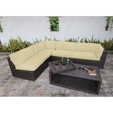 Rattan Table L Black Rattan Frame With L Shape Design Combined With