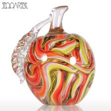 popular modern ornaments buy cheap modern ornaments lots from tooarts home decoration accessories colorful apple figurines glass ornament modern figurine handblown home decor multicolor
