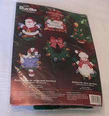 bucilla felt ornament kit snowman with lights set of 6 ornaments