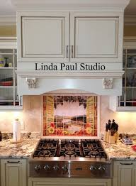 Neutral Kitchen Backsplash Ideas Sunflowers Vineyard Backsplash Tile Mural For Country Kitchens