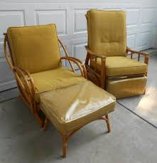 Heywood Wakefield Bamboo by Vintage Heywood Wakefield Rocking Chair And Ottoman All Original