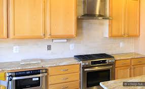 kitchen backsplash with oak cabinets beige travertine subway backsplash tile backsplash com