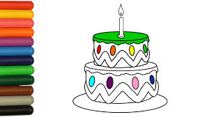 learn coloring pages first birthday cake for babies colouring with