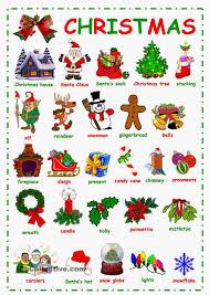 love the english language winter and christmas vocabulary