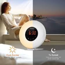 alarm clock that wakes you up during light sleep amazon com sunrise alarm clock yosoo wake up light alarm clock