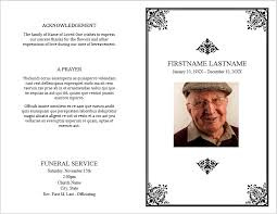 funeral booklet templates 12 free funeral brochure templates bates on design
