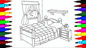 coloring pages bedrooms l bedsheet l curtain drawing pages to