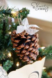 crafty winter decorations with pine cones simple methods