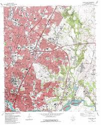 Austin Texas Maps by Austin East Topographic Map Tx Usgs Topo Quad 30097c6