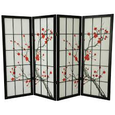 short room dividers oriental furniture 48 inch low cherry blossom shoji screen room