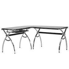 techni mobili black glass corner desk techni mobili l shaped colored tempered glass top corner desk with