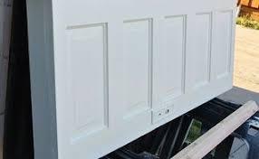 5 panel old door headboard popcorn white and chelsea gray