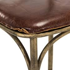 kasson french bronze limed oak leather counter stool kathy kuo home