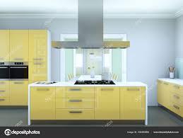 modern kitchen design yellow yellow modern kitchen interior design illustration 202280964