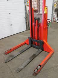 mahaffy power stacker skid or pallet stacker 2000lbs capacity