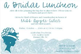 bridal luncheon wording bridal luncheon invitation wording dhavalthakur