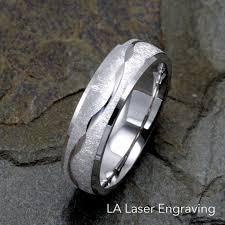 14k white gold wedding band 6mm wedding band 14k white gold lalaserengraving