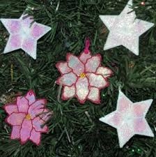 fsl mylar ornaments free standing embroidery in the