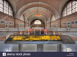 the ellis island registry room the great hall from the 2nd floor