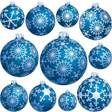 tree balls with snowflakes vector vector graphics