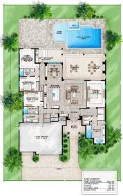House Plans Coastal Coastal Florida Mediterranean House Plan 75965 Level One Dads