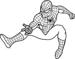 coloring page elegant spiderman print out pretty coloring page