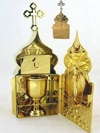 travel communion set communion set travel tabernakle gold plated at holy store