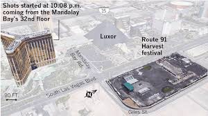 from shots fired to all clear 72 minutes of terror in las vegas sources google earth clarke county sheriff las vegas metropolitan police department