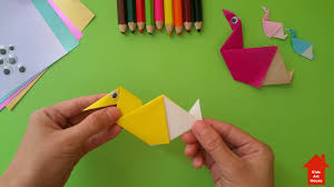 how to fold a duck origami by kids art house youtube