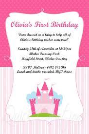 birthday invitations pink princess castle birthday invitation