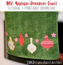 Christmas Towels Bathroom Handmade Holiday U2014 Easy Diy Ornament Appliquéd Kitchen Or