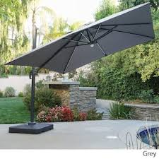 Grey Patio Umbrella Grey Patio Umbrellas For Less Overstock