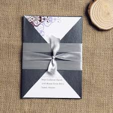 vintage wedding invitations cheap cheap invitation cards brown and purple vintage ribbon pocket