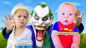 Superhero Family Halloween Costumes Frozen Elsa Superbaby Kidnapped Joker Full Movie Spiderman