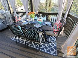 Outdoor Patio Rug Give An Look To Your Veranda With Outdoor Rugs For Patios